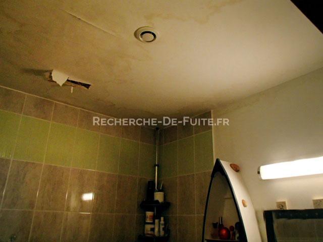 humidit remarquable sur le plafond de la salle de bain - Faux Plafond Salle De Bain Humidite