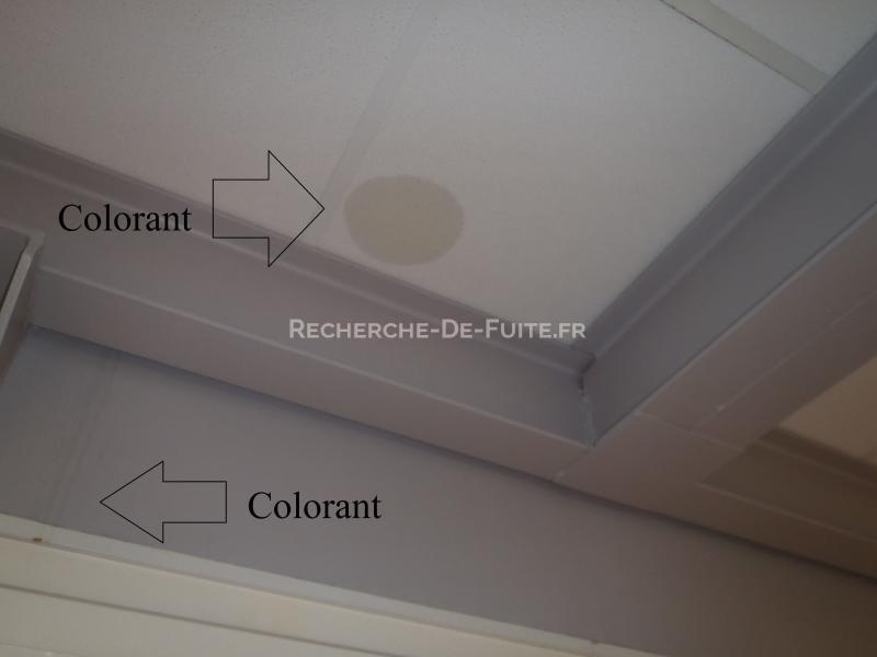 suivi de la fuite au colorant jusquau plafond - Colorant Fuite Piscine
