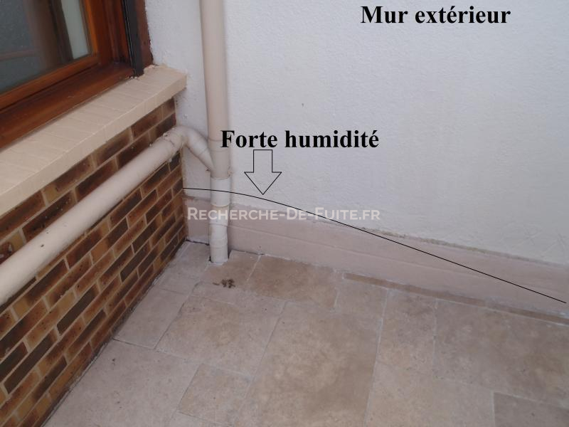 Fa ade for Humidite sur mur interieur