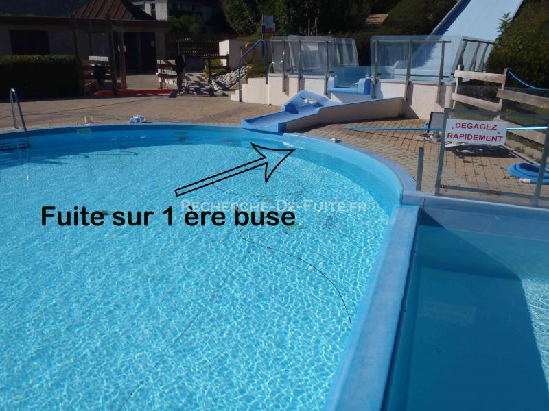 Buse piscine excellent duune buse de refoulement dans une for Reparation fuite buse de refoulement piscine