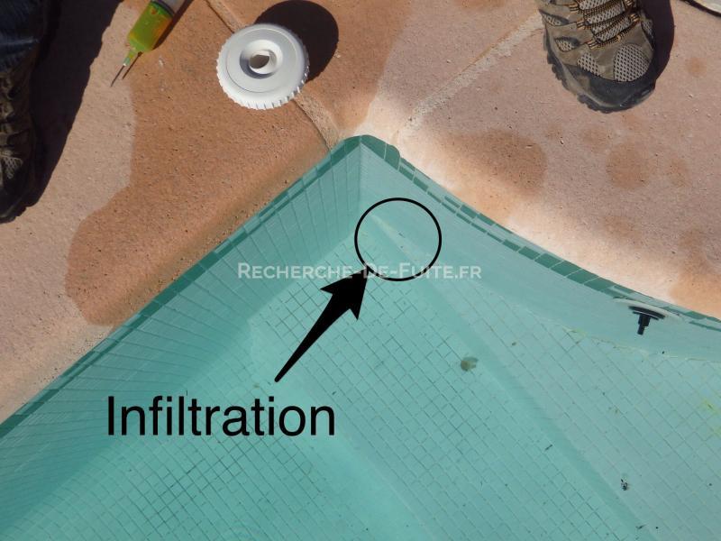 coque piscine fuite