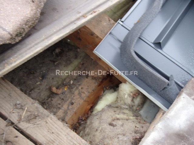 Combles - Infiltration d eau plafond ...